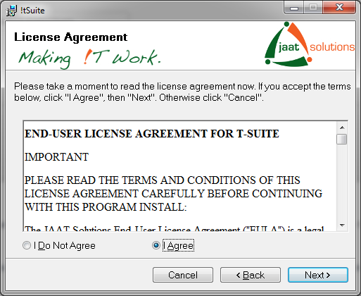 !tSuite licence agreement