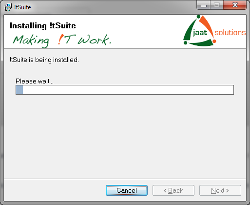 !tSuite installation progress
